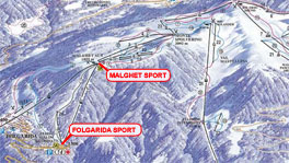 Cartina piste Folgarida